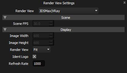 Render View Settings Panel
